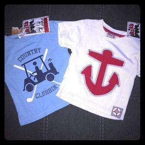 {MISH BOYS} 2 t-shirt bundle 9M